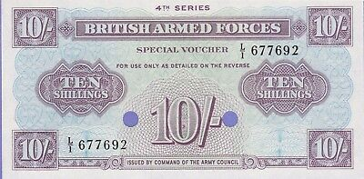"""Great Britain""""Military""""10 Shilling Banknote,(1962) Uncirculated Condit,Cat#M-35"""