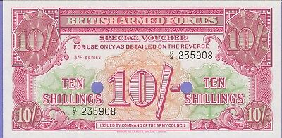 """Great Britain""""Military""""10 Shillings Banknote,(1956) Uncirculated Condit,Cat#M-28"""