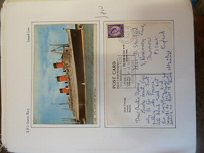 Great Britain RMS Queen Mary unused PPC and 1962 Paquebot PPC (6baz)