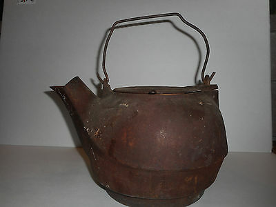 Antique Civil War Era 1800's Cast Iron Kettle