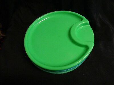 11 P&ered Chef Outdoor Plastic Plates Picnic Cup Holder Turq Blue \u0026 Green & PAMPERED CHEF Outdoor Plastic Party Plates 2823 Set of 4 Greens ...