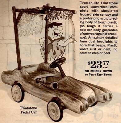 1962 Xmas Cat Pg Fred Flintstones Pedal Car Tractor Motorcycle Scooter Wagon
