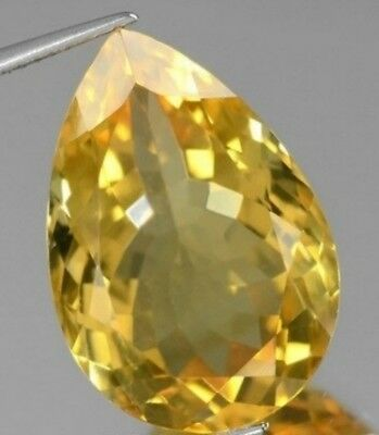GOLDEN CITRINE 16 x 12 MM PEAR CUT ALL NATURAL