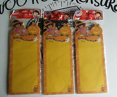 3 Packs Happy Halloween Magnetic Note Pad DORA the Explorer Witch 60 page each