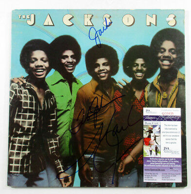 Jackie, Tito & Marlon Signed Record Album COVER ONLY The Jacksons 3 JSA AUTO