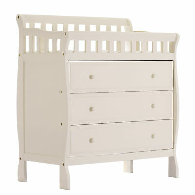 DREA-602FW-Dream on Me Marcus Changing Table and Dresser in French White