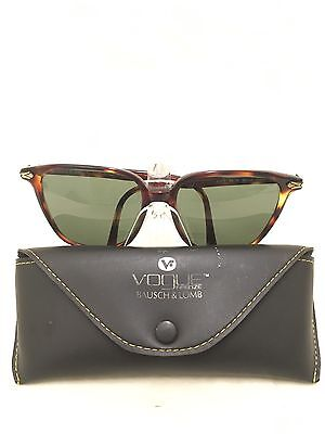 Vintage Vogue Firenze Tortoise Lucy Sunglasses By Bausch & Lomb Made In Italy
