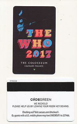 """ THE WHO 2017 "" The COLOSSEUM-- CAESARS PALACE------Las Vegas, NV---Room key"
