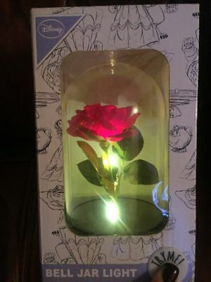 Primark DISNEY BEAUTY AND THE BEAST ENCHANTED ROSE LIGHT UP JAR DOME BELL