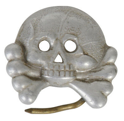 German WWII Skull Badge