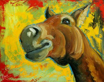 """Horse #20 - 16x20"""" original oil painting by Roz"""