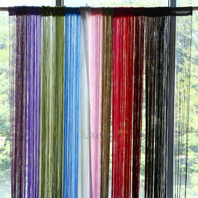 XD#3 String Curtains Patio Net Fringe for Door Fly Screen Windows Divider Cut