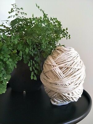 macrame cord  5mm 75m 500g rope string 100% cotton single twist twisted