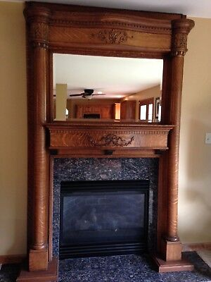 Large antique fireplace surround