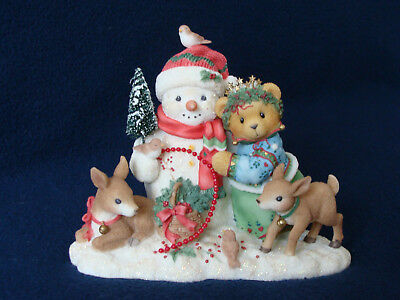 Cherished Teddies - Star - Girl With Snowman And Friends - Limited Ed. - 534250