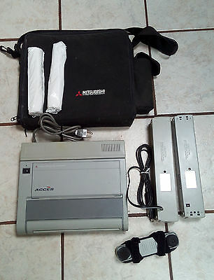 Portable Mitsubishi ACCES Fax Machine F10PWR With Acoustic Coupler PS F10CPL