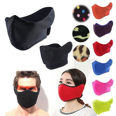 Biker Facemask Half Face One Size Fits Most Face mask Harley Motorcycle Bike AU