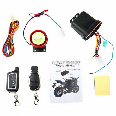 Alarm System Motorcycle Security Remote Anti Theft Control Engine Start 2 Way