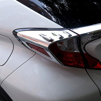 Chrome Rear Tail Light Eyelids Eyebrow Cover Trim For Toyota C-HR 2016 2017 2018