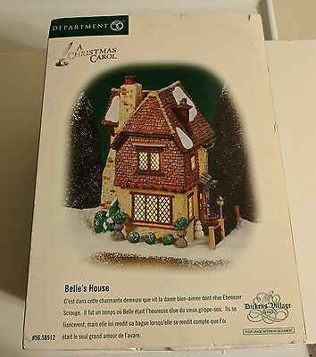 Dept 56 Belle's House 58512 SCROOGE A Christmas Carol Dickens Village RARE