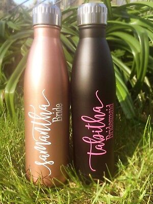 Personalised Stainless Steel Drink Bottle 6 Colour Choices