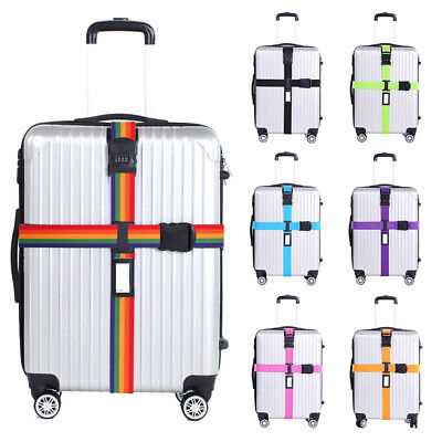 Cross Luggage Strap Belt Buckle With 3 Digits Password Lock For Suitcase WB1Y5