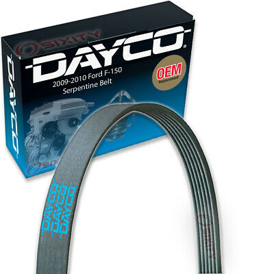 Dayco Serpentine Belt for 2009-2010 Ford F-150 5.4L 4.6L V8 - V Belt Ribbed bm