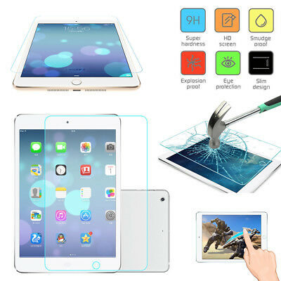 "Genuine 9H Tempered Glass Film Screen Protector for Apple IPad Pro 9.7"" iPhone X"