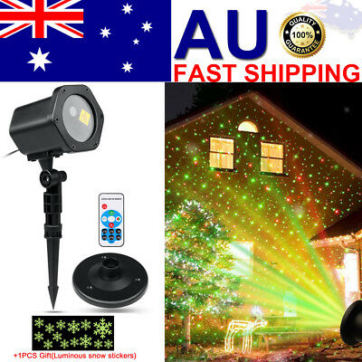 Christmas Star Light RED GREEN Show Laser LED MOTION Projector Outdoor Garden AU