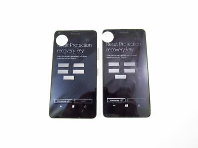 Lot of 2 Account Locked Nokia Lumia 640 RM-1073 Metro PCS Check IMEI