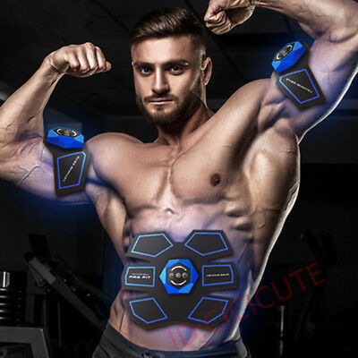 Muscle Stimulator ABS Fit Training Gear Abdominal Body Home Exercise Fitness set