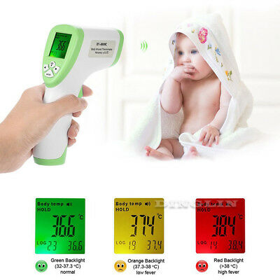 Non-contact Body Skin Infrared IR Digital Thermometer For Baby Kids Adult Hot
