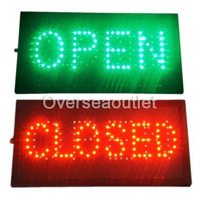 "Bright LED 2 in1 Open & Closed Store Shop Business Sign 19x10"" Display Neon CA"