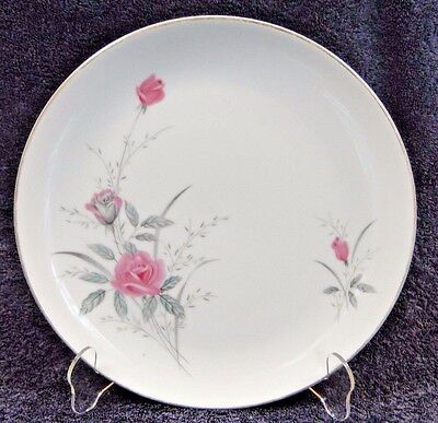 "Fine China of Japan Golden Rose Dinner Plate 10 1/4"" NICE"