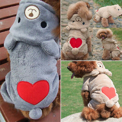 Fashion Pet Puppy Dog Winter Warm Hoodie Clothes Jumpsuit Coat Costume Apparel