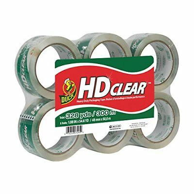 Duck Brand HD Clear High Performance Packaging Tape, 1.88-Inch x 54.6 Yard