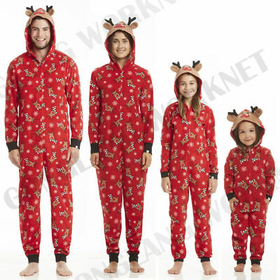 UK Family Matching Adult Women Kids Christmas Pyjamas Nightwear Pajamas PJs Sets