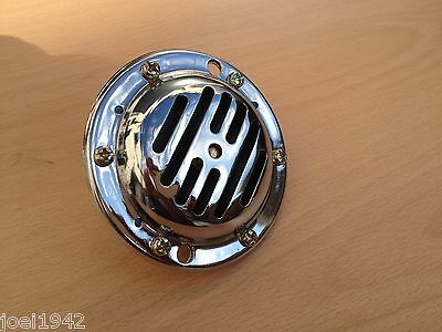 Vespa 12 Volt Dc Chrome Horn. Brand New