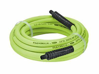 Flexzilla Air Hose, 3/8 in. x 25 ft., 1/4 in. MNPT Fittings, Heavy Duty