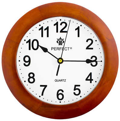 High quality wall clock - PERFECT - silent sweep , wooden case