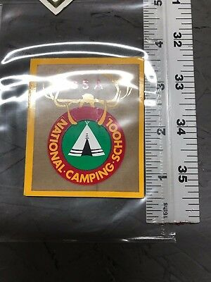 Vintage Boy Scouts Of America National Camp School Decal