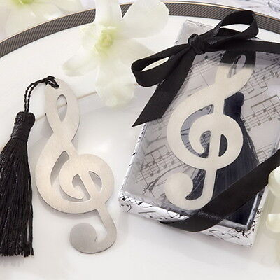 1 x Stainless Steel Music note treble clef  Bookmark fr29