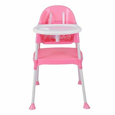 3 in 1 Baby High Chair Convertible Table Seat Booster Toddler Feeding Highchair@