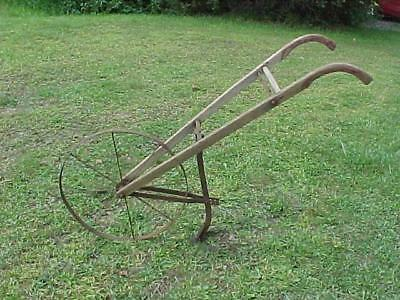 Antique Cultivator High Wheel Push Plow Rustic Flower Garden Usable Condition