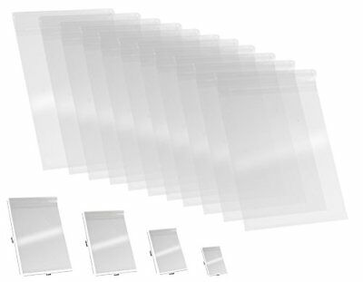 100 Pcs 9x12 Clear Resealable Cellophane Bags - 1.2 MIL Glossy Self Seal Cello