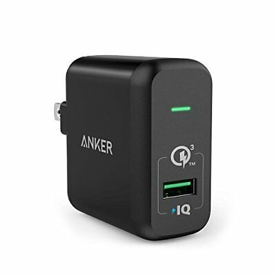 Anker Quick Charge 3.0 18W USB Wall Charger, PowerPort+ 1 for Galaxy S7 / S6 /