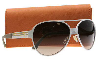 New Authentic Tory Burch Sunglasses Women TY 6044 White 3119/13 TY6044 59mm