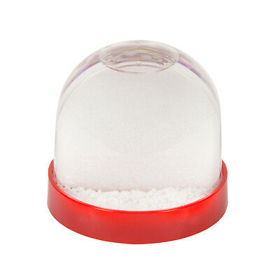 70mm x 62mm Blank Red Base Snow Glitter Dome (SD1-RED)