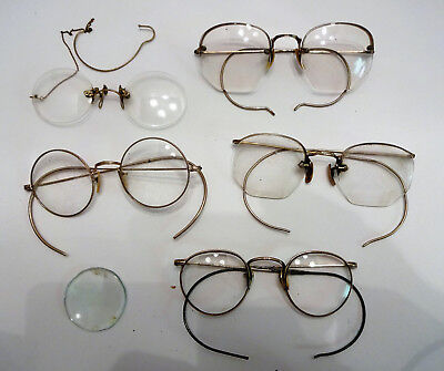 Vintage Lot Antique Reading Glasses Gold Filled Steampunk Pince Nez NO RESERVE
