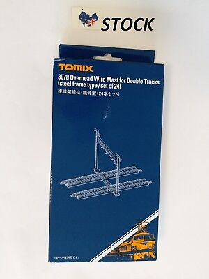 Tomix 3078 N Gauge Double Tracks Catenary Masts (24 pcs) for model train